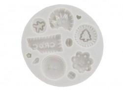 Moule jolis boutons goumands en silicone WePAM