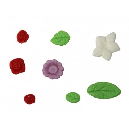 Roses and leaves WePAM silicone mould
