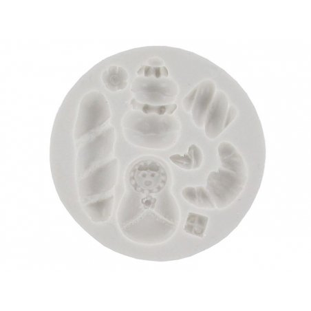 Russian nestling doll and sweets WePAM silicone mould