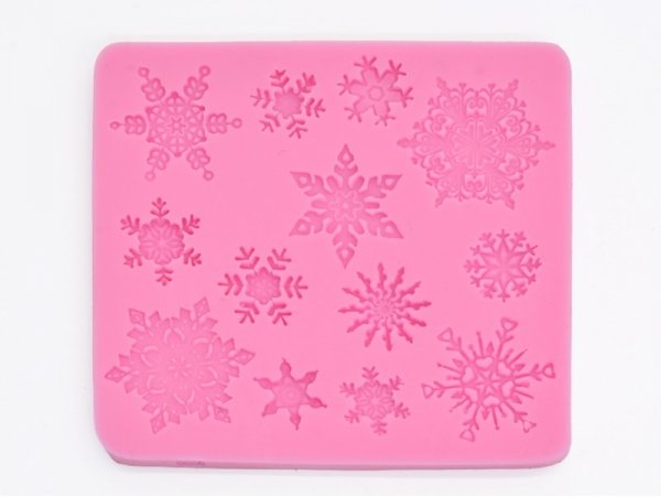 Silicone mould - snowflakes