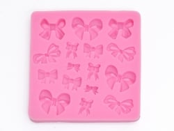 Silicone mould - small bows