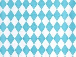 10 Geschenktüten - blaue Rauten