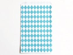 10 pochettes cadeaux - losanges bleus