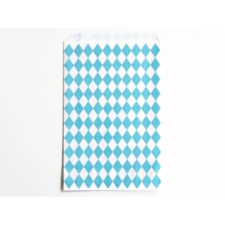 10 pochettes cadeaux - losanges bleus My little day - 1