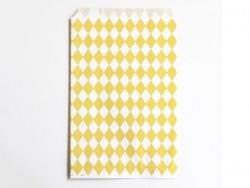10 pochettes cadeaux - losanges jaunes My little day - 1
