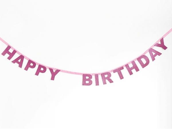 Glitter garland - Happy Birthday