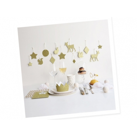 20 My Little Day paper napkins - Golden stars