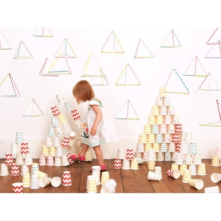 8 My Little Day paper cups - Golden stars