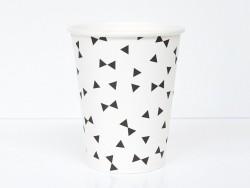 8 gobelets en papier My Little Day - Noeuds noirs