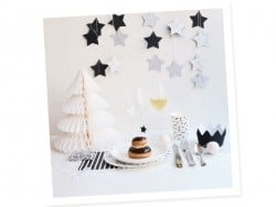 8 My Little Day paper cups - Black bows
