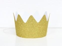 8 couronnes glitter My Little Day - dorées