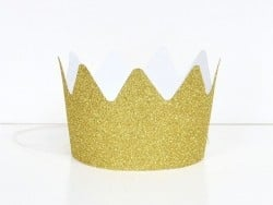 8 My Little Day glitter crowns - golden