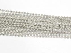 Gros lot 10 m de chaine bille 1,5mm - argenté  - 1