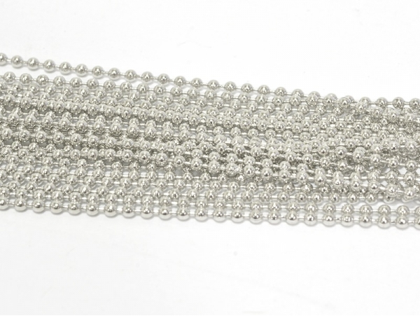 Big set with a ball chain (10 m) - 1.5 mm - dark silver-coloured