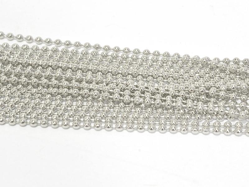 Acheter Gros lot 10 m de chaine bille 1,5mm - argenté - 8,95€ en ligne sur La Petite Epicerie - Loisirs créatifs