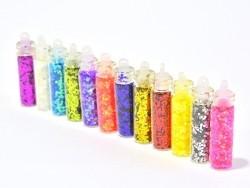 Set of 12 bottles with rhinestones