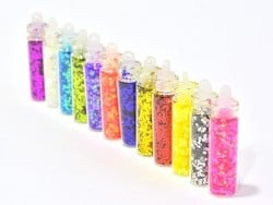 Set of 12 bottles with rhinestones