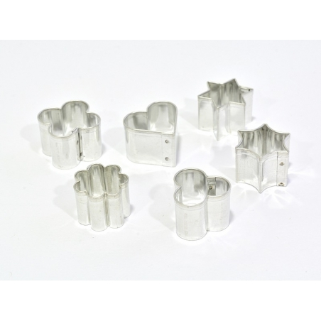 Set of 6 small FIMO biscuit cutters