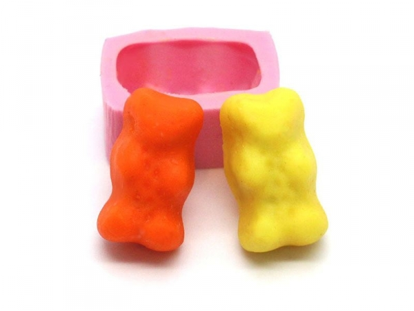 Pink gummy bear silicone mould