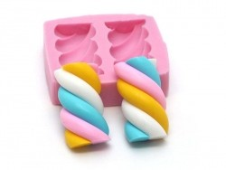 Pink marshmallow silicone mould