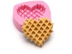 Moule gaufre coeur en silicone