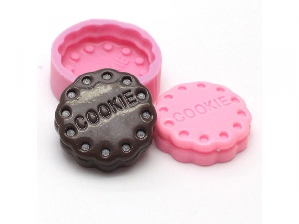 """Biscuit silicone mould with the word """"cookie"""""""