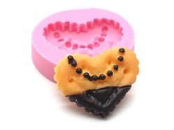 Moule petit beurre coeur en silicone   - 1
