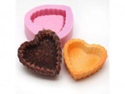 Heart-shaped cake base silicone mould