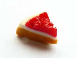 Part de tarte à la framboise
