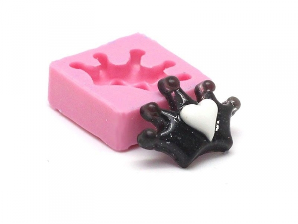 Acheter Moule couronne à coeur en silicone - 5,25€ en ligne sur La Petite Epicerie - Loisirs créatifs