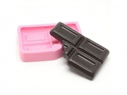 Big, nibbled on, round cake base silicone mould