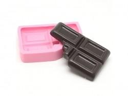 Grand moule carré de chocolat mordu en silicone