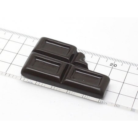 Grand moule carré de chocolat mordu en silicone   - 4