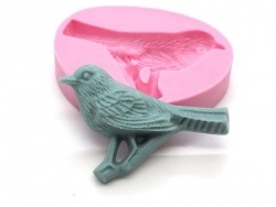 Bird sitting on a tree silicone mould