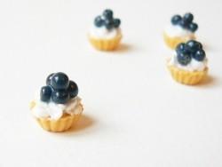 Cupcake à la crème et à la myrtille