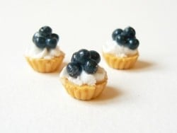 Blueberry cupcake with whipped cream