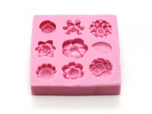 Moule 9 mini fleurs en silicone  - 3