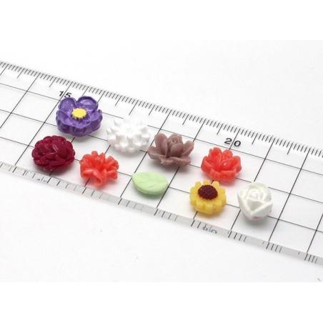Moule 9 mini fleurs en silicone  - 4