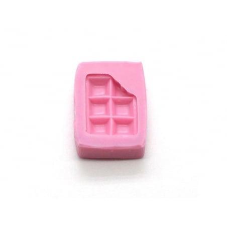 Acheter mini moule carrés de chocolat mordu en silicone - 5,55€ en ligne sur La Petite Epicerie - Loisirs créatifs