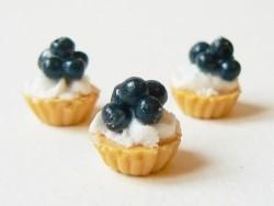 Cupcake à la crème et à la myrtille   - 3