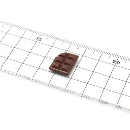 mini moule carrés de chocolat mordu en silicone