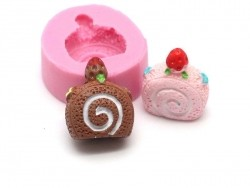 Small Swiss roll silicone mould