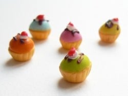 5 farbenfrohe Cupcakes