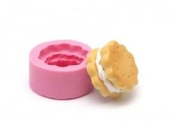 Silikonform für runde, gefüllte Kekse