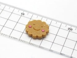 Round biscuit with a smiley silicond mould