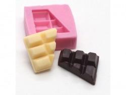 Moule moitié de tablette de chocolat en silicone