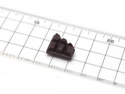 Half of a chocoalte bar silicone mould