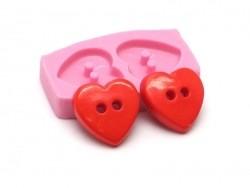 Moule boutons coeur en silicone