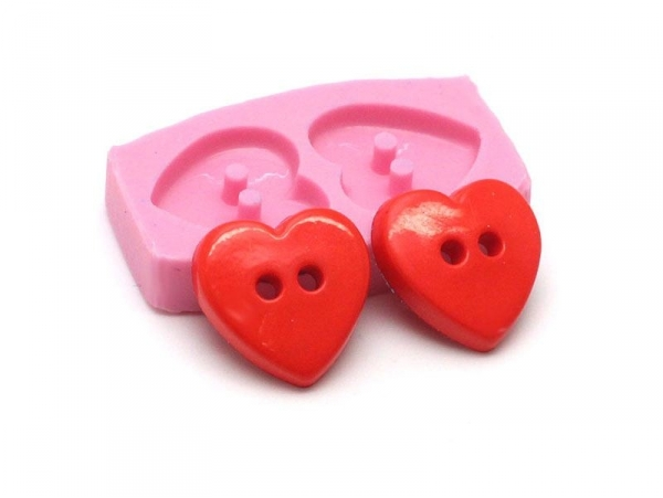 Heart-shaped buttons silicone moud