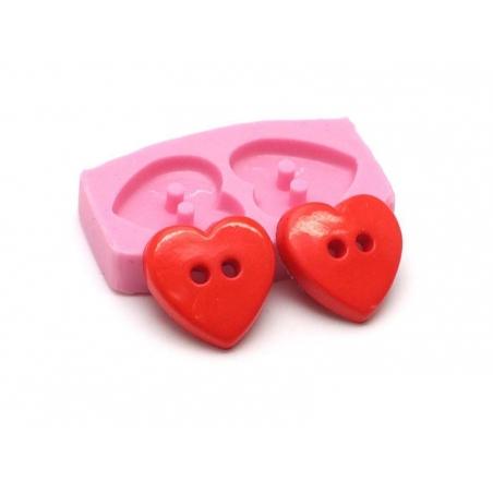 Moule boutons coeur en silicone  - 1
